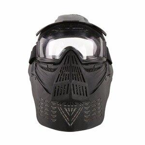 Image 1 - WoSporT צבאי מלא פנים טקטי פיינטבול מסכת Airsoft מסכת עדשה עם משקפי & צוואר להגן עבור חיצוני CS אבזר