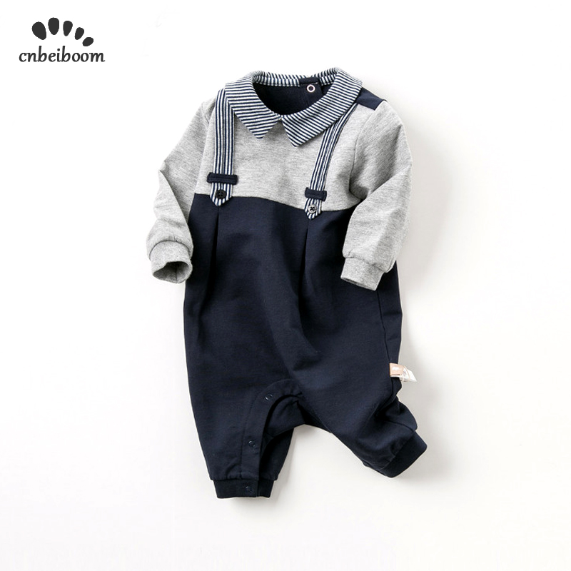 Baby   Rompers   Boys' Baby Clothing onesies 2019 new spring newborn gentlemen cotton   romper   boy long sleeve jumpsuits for birthday