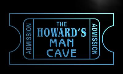 x0080-tm Howards Man Cave Home Cinema Custom Personalized Name Neon Sign Wholesale Dropshipping On/Off Switch 7 Colors DHL