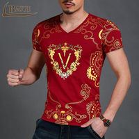2016 Fashion Men S T Shirts 3D Printing Bronzing Summer Short Tees Casual Cotton Short Sleeve