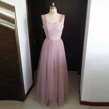 2016 New Lavender Long Semi Formal Party Dress For Wedding Guest Dresses Soft Tulle Lace Bridesmaid Dresses Sweetheart NO PS