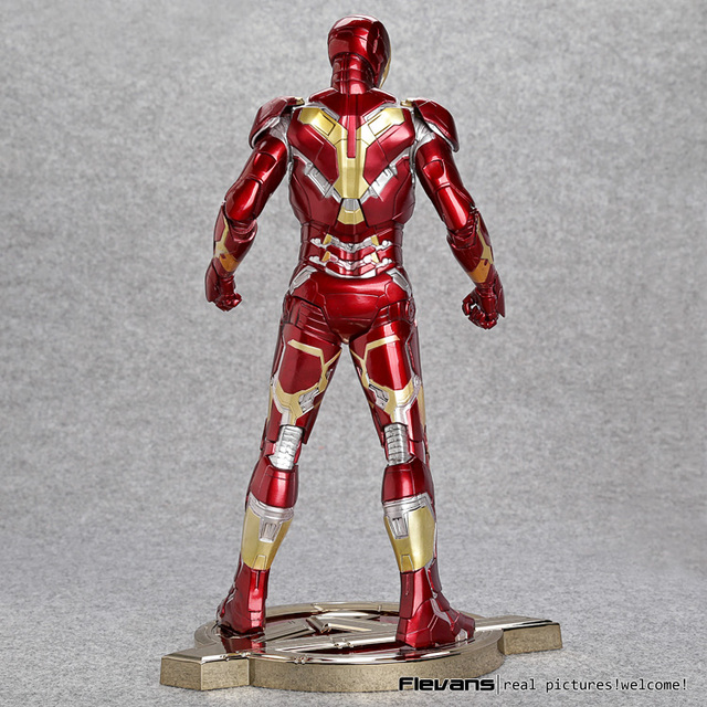 Iron Man Mark 43 1/6 Scale Pre-painted Model Kit with LED Light PVC Action Figure Collectible Model Toy 12″ 30cm