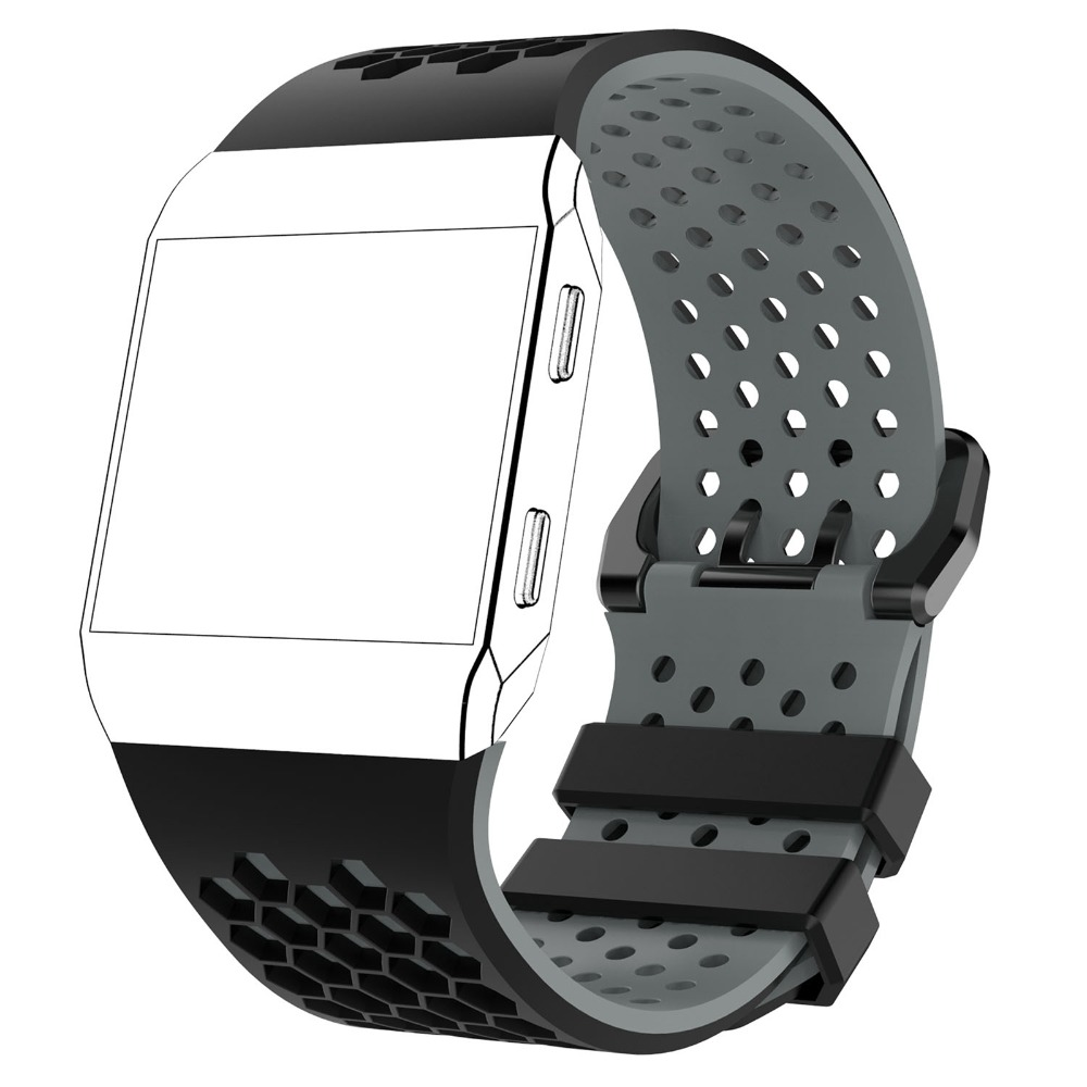 XBERSTAR Double Color Silicone Sports Fitness Wristband Strap for Fitbit Ionic Smart Watch Watchbands Wriststrap New