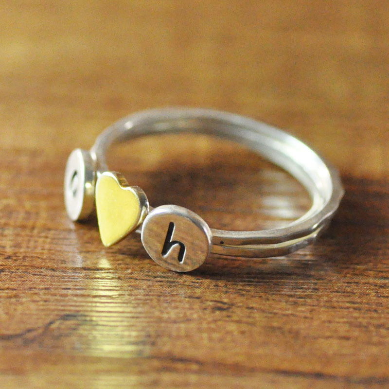 get cheap custom initial rings aliexpress
