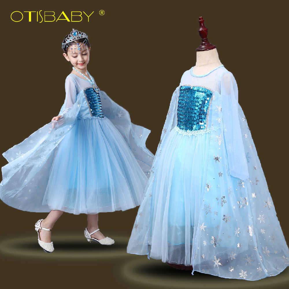 OTIABABY Детский костюм снежинок Эльзы aacb96976aad9