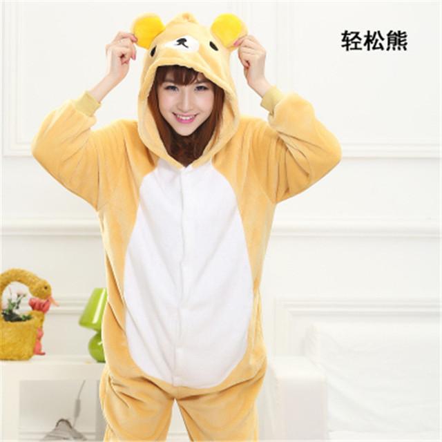 Flannel Onesies Adult Animal Owl  Dinosaur Cow  Winter Worm Flannel Pajamas For Man and  Woman Home Sleepwear