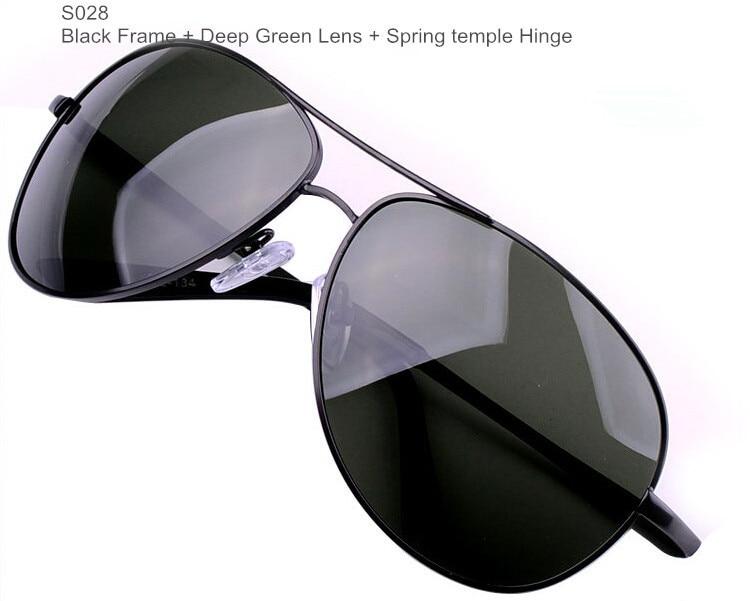 Поляризационные мужские солнцезащитные очки, Брендовые очки, мужские очки из пушечного металла, классические металлические солнцезащитные очки для мужчин - Цвет линз: BrandSunglasses S028