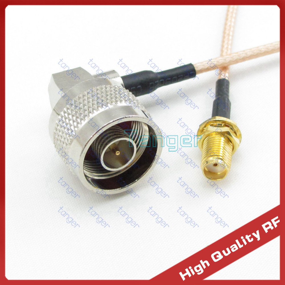 New Hot sale N type male plug right angle to SMA female connector with RG316 Coaxial Pigtail Jumper RF cable 3feet 40inch 100cm mcx male right angle to n female bulkhead with o ring cable rg316 for wireless rf coaxial jumper cable connector