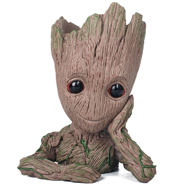 Guardians of The Galaxy Flowerpot Baby Action Figures Cute Model Toy Pen Pot Best Christmas Gifts For Kids Home Decoration