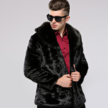 KERUISHU Winter New Men's Luxury Faux Fur Coat High Quality Male Short Leather Fur Jacket Man Loose Imitation Furs Coat S-3XL K5