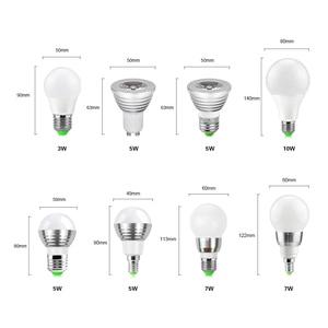 Image 2 - 5W 7W 10W RGB Led Spot light Bulb Bubble Ball Lamp E27 E14 GU10 AC85 265V Dimmable Magic Holiday RGB Lighting+Remote Control