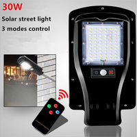 30W led solar street light solar lights outdoor lighting 3 Mode Setting 7200mAh Lithium Battery with remote control
