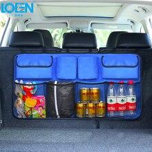 Органайзер для багажника автомобиля, сумка для хранения на заднем сиденье, сумка для путешествий, волшебная лента, Сетчатая Сумка, карманы для хранения напитков, одежды, обуви, держатель