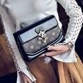 2017 Новая Мода женские ежедневные сумки небольшой замок крышки сумка ретро цепи введите сумка через Плечо и сумки