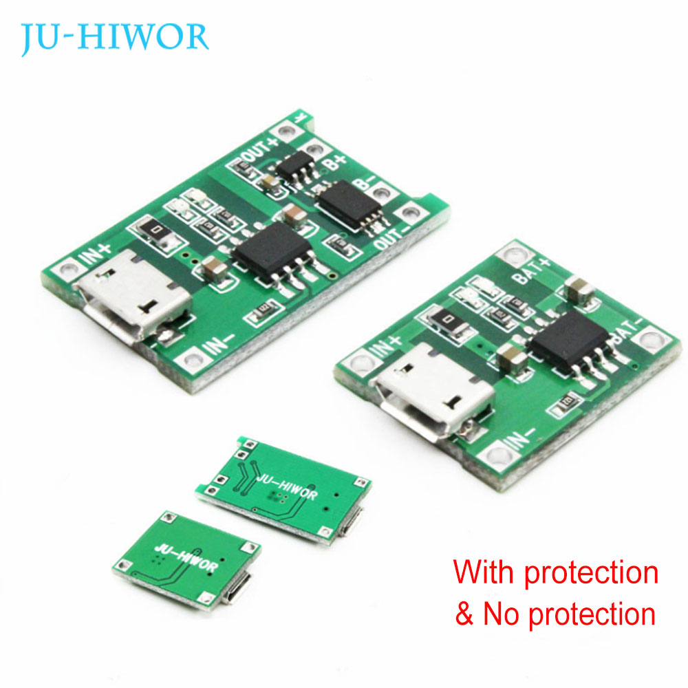 TP4056 1A Port Lipo Battery Charger Board Charge Module 18650 Lithium Battery Mic USB With Protection New Design Dual Functions