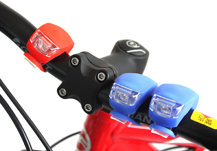 Silicone LED Cycling Lamp Waterproof Bike Front Light Bicycle Headlight Bycicle Handlebar Lamp