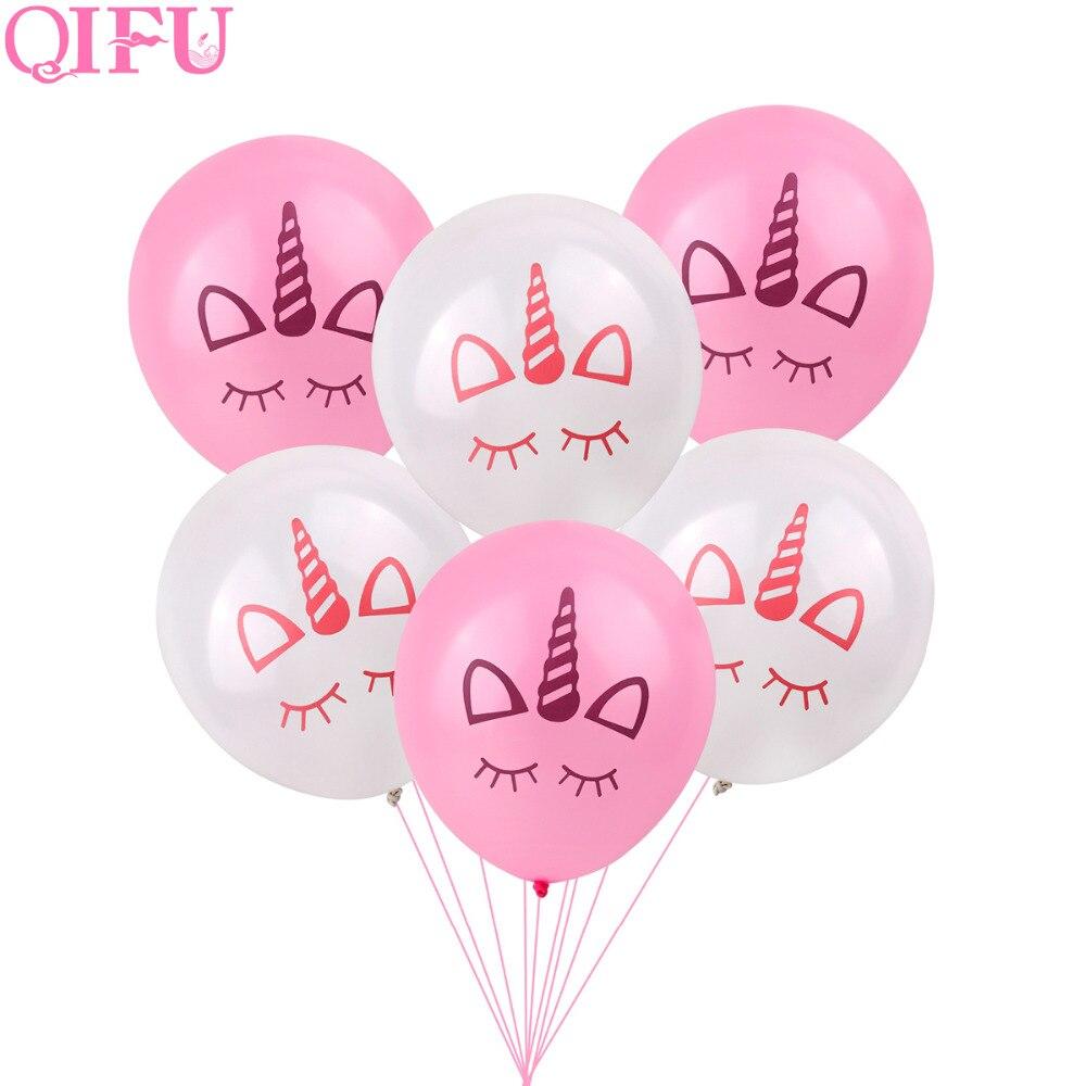 QIFU Happy Birthday Party Unicornio Decoraciones para fiestas Kids - Para fiestas y celebraciones