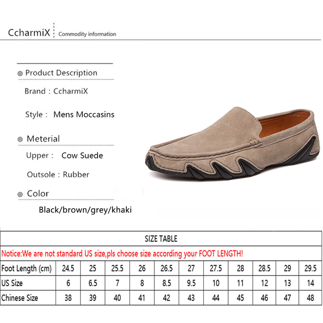 CcharmiX Summer Walking Breathable Casual Shoes New Fashion Moccasins Men Loafers Suede Leather Mens Driving Boat Shoes Big Size 5