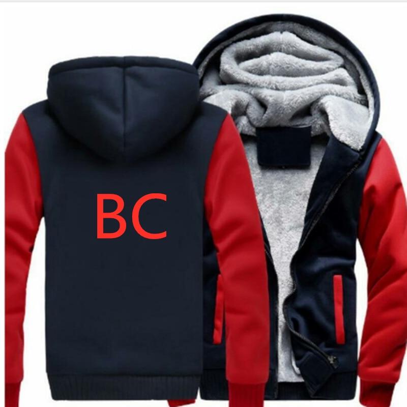 BC coche patrón de logotipo sudaderas con capucha de los hombres de moda personalidad cremallera sudadera Sudadera Hombre con capucha chándal Hip Hop de otoño con capucha de invierno con capucha