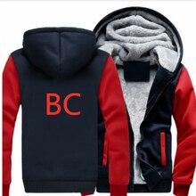 BC автомобиль логотип узор толстовки Мужская мода Личность молния мужской свитер с капюшоном спортивный костюм хип хоп осень зим