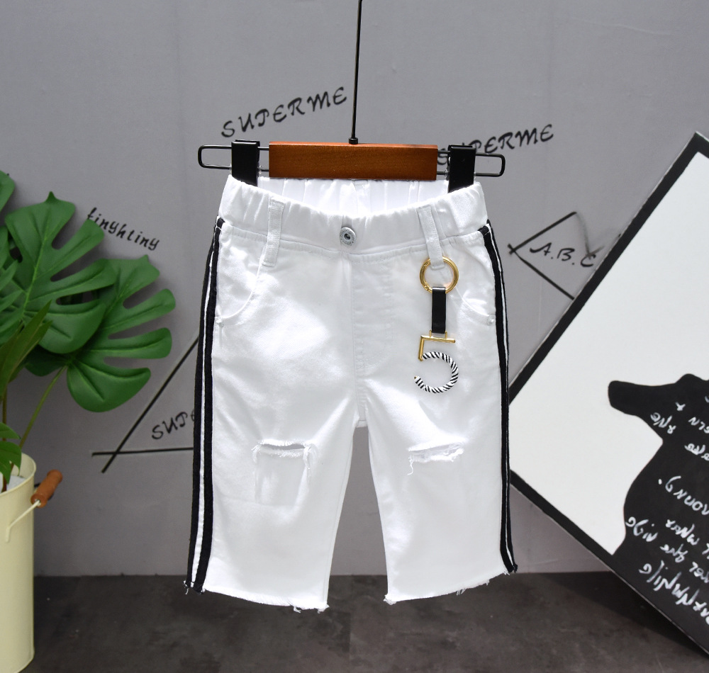 Summer Sets Baby Boy Clothes Set Boys Short Sleeve T shirts for Boys Shorts Pants Two piece set Black White Boys Suit 2Pcs in Clothing Sets from Mother Kids