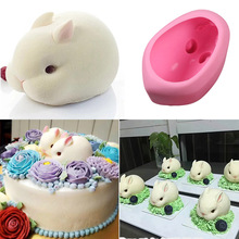 Cute Bunny 3D Cake Molds Silicone Rabbit Fondant Decorating Mould Mousse Soap Mold Baking Tools