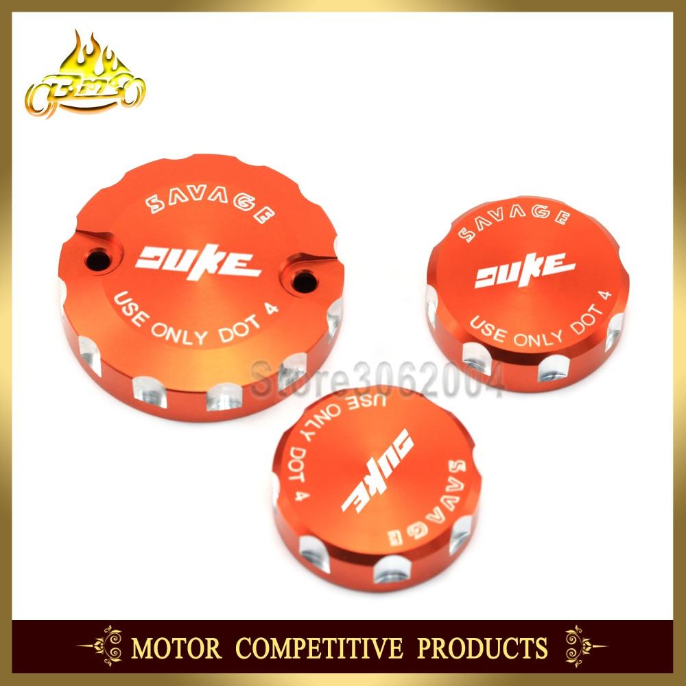 Couvercle de réservoir d'embrayage de frein avant et de frein arrière accessoires de moto Orange pour KTM 690 DUKE 690 duke 2008-2010 2009 CNC