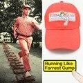 1994 BUBBA GUMP SHRIMP CO. Forrest Gump Traje Bordado Algodón Correr Sombrero Gorras de Béisbol Deporte Al Aire Libre Para Adultos de Las Mujeres hombres
