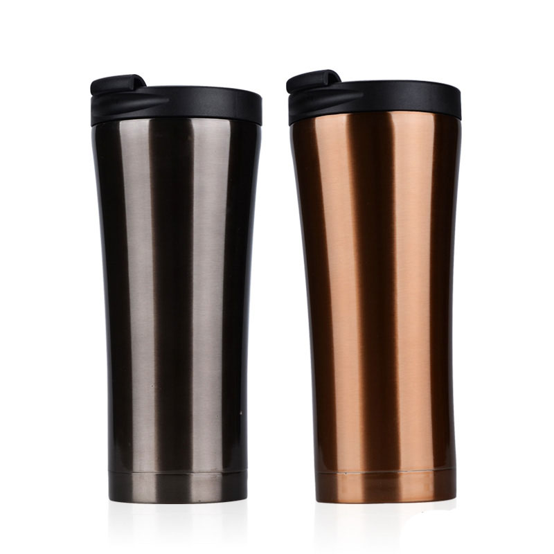 500ml stainless steel auto cup small thermos vacuum thermo flask termica bottle travel coffee mug mini - Coffee Travel Mugs