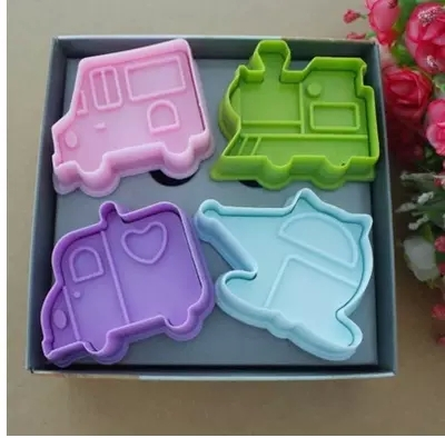 Car Molds For Cake Decorating : 4Pcs Car Cookie Cake Decoration,Cookie Cutter cake mold ...