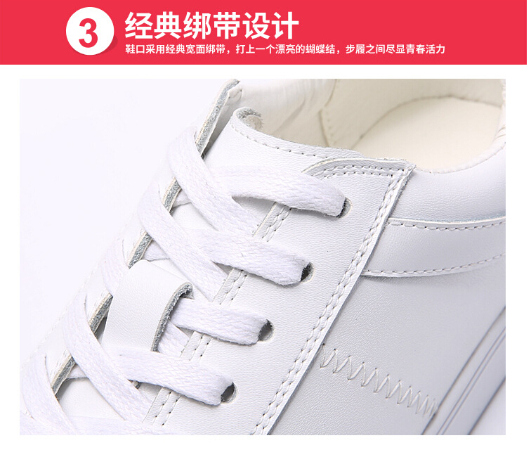women shoes Genuine leather Lace-Up flats white shoe Soft bottom loafers Casual Shoes size 35-40 32