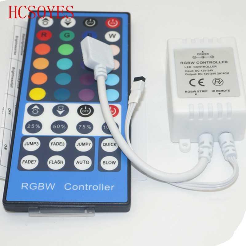 40 klawiszy pilot zdalnego sterowania na podczerwień sterownik 4 kanałów 4CH DC12V-24V LED RGBW kontroler ściemniacz dla RGBW RGBWW 5050 taśma LED SMD światła