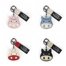 ute Womens Piggy Fur Ball Keychain Cartoon Pig Pom Bag Purse Car Key Holder Fluffy Keyring Pendant Llaveros