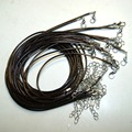 Wholesale 2 MM Coffee Wax Wire Necklace Pendant Leather Cord 48 MM With Bolt Jewelry Do You Pending 10 pz / Batch Shipment