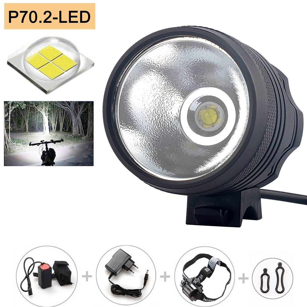 New  XHP70 6800 Lumen 4*P70 LEDs Bicycle Lamp front Headlight Riding Cycling Bike Front Light for Outdoor Night Camping