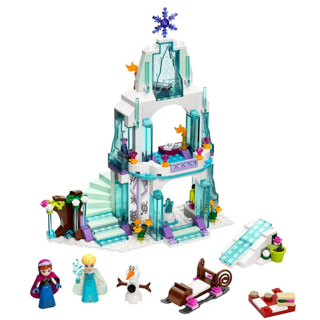 Lepin 25005 315pcs Dream Princess Elsa Ice Castle Princess Anna Set Model Building Blocks Gifts Toys Compatible Friend 41062