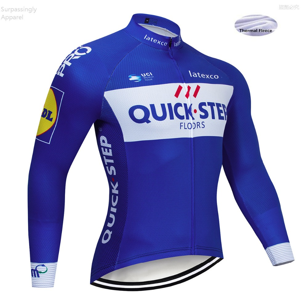 UCI Team 2019 QUICK STEP Winter Blue Cycling Jersey Tops Racing Cycling Clothing Ropa Ciclismo Mtb Bike Jersey Maillot Ciclismo