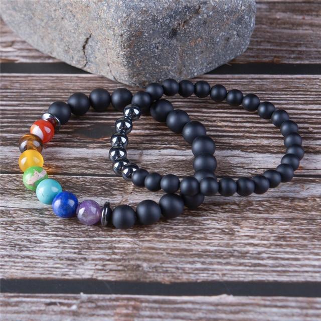 2pcs/set 7 Chakra Bracelet  1