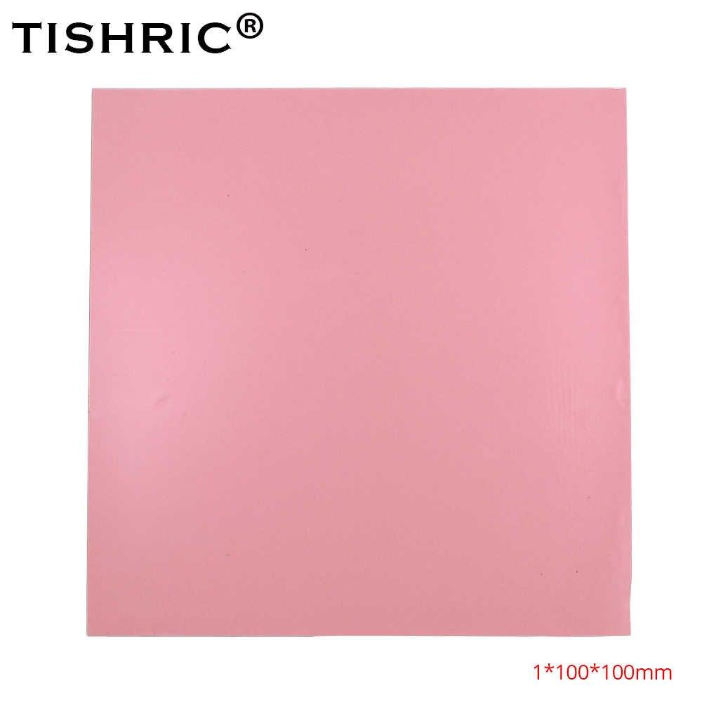 TISHRIC gorąca sprzedaż czerwony GPU CPU podkładki termiczne 1mm Cooler przewodząca podkładka silikonowa radiator 100*100*1mm wentylator do komputera chłodzenie radiator
