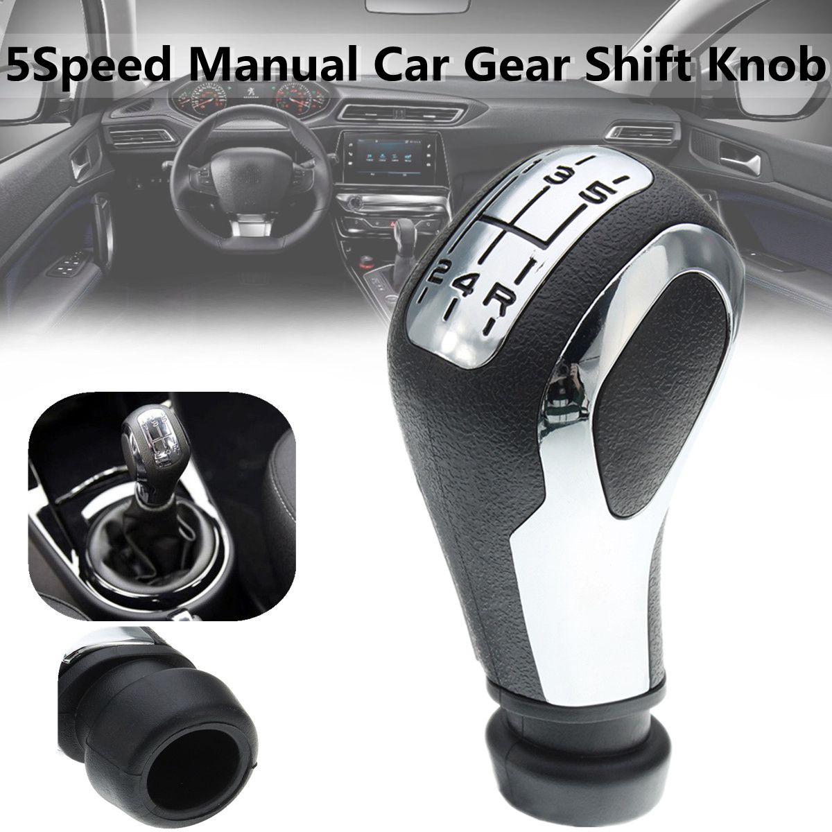 5 Speed Manual Car Gear Shift Knob Stick For Peugeot 106 206 206CC 207 307 407 стоимость