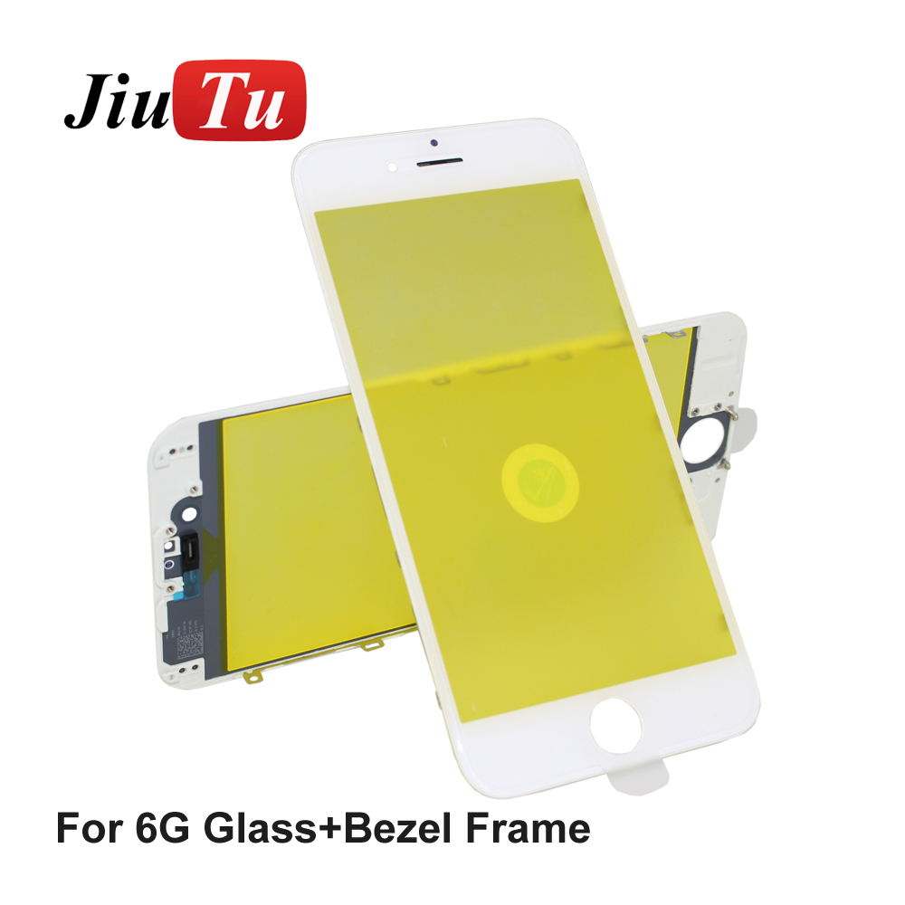 Jiutu 10pcslot Glass With Bezel Frame Cold Press For iPhone 6G6 Plus 6S6S Plus (7)