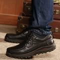 Nueva moda Ocio Pisos Hombres Zapatos de Cuero Genuino Hecha A Mano Antideslizante en Holgazanes Planos de Los Hombres de Gran Tamaño Mocasines Los Hombres Zapatos de Vestir 38-48