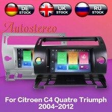 Android 8 7 Car DVD Player GPS navigation For Citroen C4 Quatre Triumph 2004-2012 autostereo multimedia radio recorder headunit