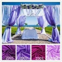 Sentetik Ipek Saten Kumaş ev düğün doğum günü dekorasyon Organze Kumaş masa perde, Hediye Kutusu Astar Bez Mor Renk