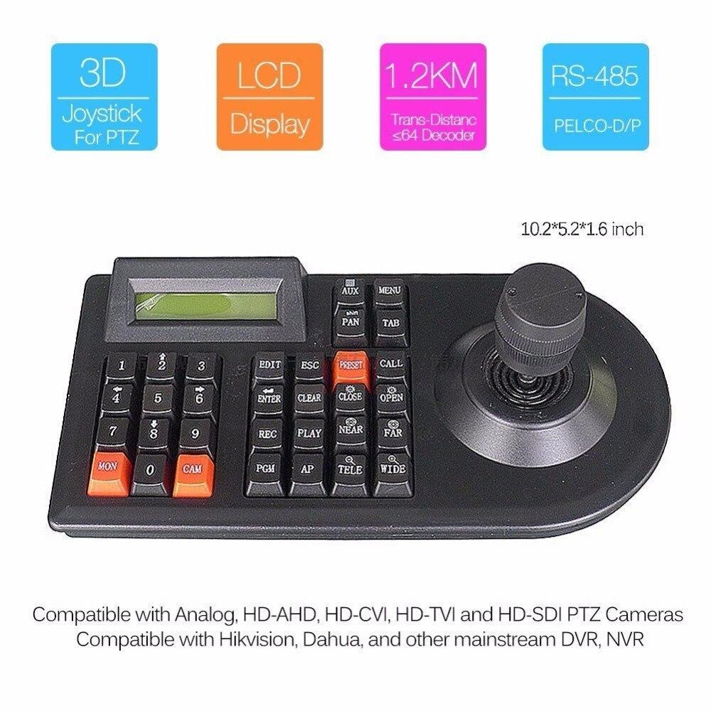 CCTV joystick Keyboard Controller LCD Display for PTZ Camera control