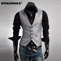 2016 New Men's Vest Dress Party Dress Casual Vest Vest V Word Collar  Cowboy Wedding Suit  Men Waistcoat Vest Suit  Beckham Suit