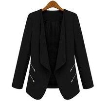 2017 Женщины ПР Длинным Рукавом Тонкий Нагрудные Блейзер Костюмы Куртки Вскользь Открытый Пальто Пиджаки Пиджаки Terno 3 Цветов D316(China (Mainland))