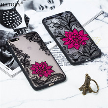 Huawei Y5 Prime 2018 Case Cover TPU +PC Lace Rose Flower For Phone Funda Bumper