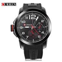 New CURREN Men Wristwatches Famous Band Curren Watch 8182 Wrist Military Silicone Brand Fashion Quartz Watch