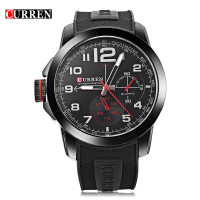 New CURREN Men Wristwatches Famous Band Curren Watch 8182 Wrist Military Silicone Brand Fashion Quartz Watch